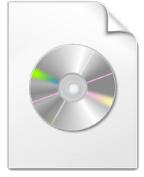 Este es generalmente el icono asignado a las imagenes ISO