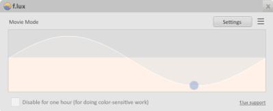 FIG. 1: En esta ventana se muestra en tiempo real el progreso del cambio, basado en la cantida de luz.