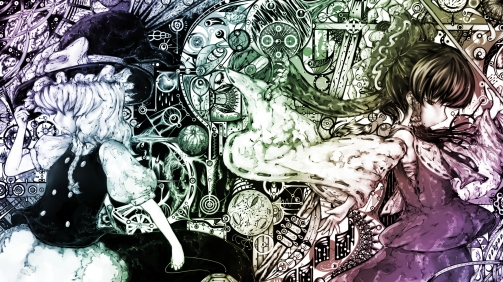 Reimu Hakurei y Marisa Kirisame